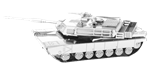 Metal Earth M1 Abrams Tank Steel Model Kit