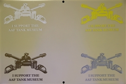 """I Support the AAF Tank Museum"" Decal - Choice of Color"