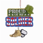 """Proud of My Solider"" Ornament"