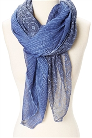 wholesale ladies scarves crinkle lace stonewash