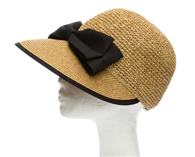wholesale womens straw caps bow