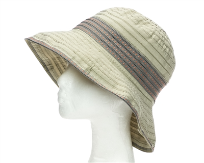 wholesale packable bucket hats - ribbon crusher womens hat