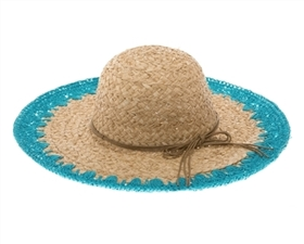 Wholesale Straw Sun Hats Crochet Edge Raffia