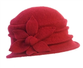 wholesale lambswool layered cloche