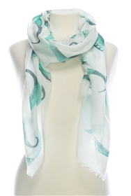Wholesale Cotton Summer Scarves - Octopus