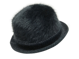 wholesale angora knit bowler hat