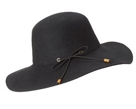 wool floppy hats suede tie
