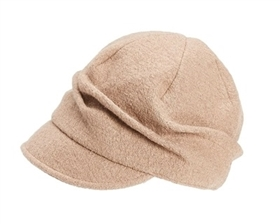 wholesale pleated wool blend cap