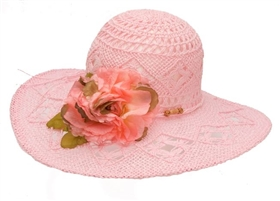 wholesale pink hats sun hat flower