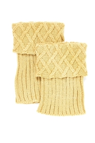 Wholesale Knit Boot Cuffs with Criss Cross Top