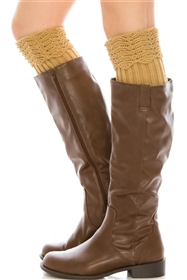 Wholesale Boot Cuffs with Scallop Design Top