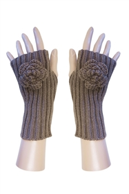 Wholesale Fingerless Gloves w/ Rosette