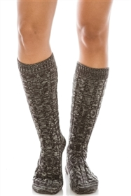 Wholesale Long Marled Knit Boot Socks