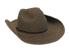wholesale cowboy hats - tweed straw