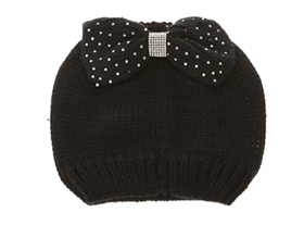 wholesale beanie womens winter hats studded bow