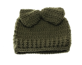 wholesale messy bun beanies hats w bow