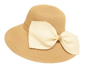 Wholesale Floppy Straw Sun Hats - Big Bow