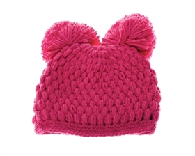 Wholesale Kids Beanie Hats - Double Pom