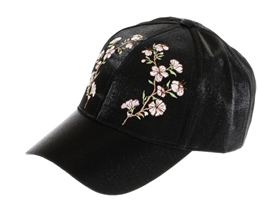 wholesale fashion shimmer fabric w embroidery baseball hats - womens winter caps