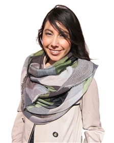 wholesale earth tones plaid scarf