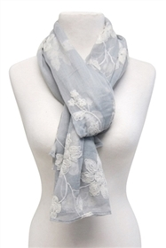 wholesale scarves with large flower embroidery