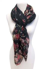 wholesale scarves scattered flower design
