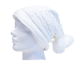 wholesale beanie slouchy with poms