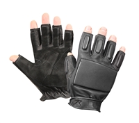 Rothco Black Fingerless Rappelling Gloves - 3454