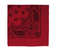 Rothco Red with Black Print Trainmen Bandana - 4057
