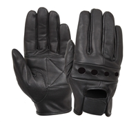 Rothco Black Leather Motorcycle Gloves - 4418