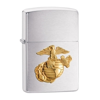Zippo Empty Military Crest Lighter - 4848