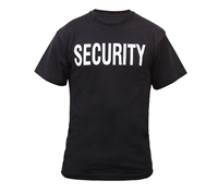 Rothco Black Security 2-Sided T-Shirts - 6616