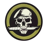 Rothco Military Skull Knife Patch - 72194