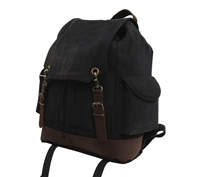 Rothco Black Vintage Expedition Rucksack - 8706
