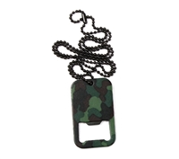 Rothco Dog Tag Bottle Opener - Woodland Camo