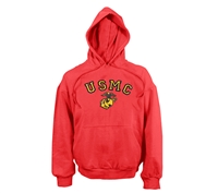 Rothco Red Marines Pullover Hooded Sweatshirt - 9222
