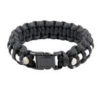 Rothco Black and White Paracord Bracelet - 939