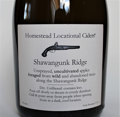 500ml bottle of Aaron Burr Homestead Locational Cider Shawangunk Ridge from Wurtsboro New York