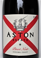 750ml bottle of Aston Wine Pinot Noir from the Sonoma Coast of California