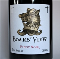 750 ml bottle of 2017 vintage Boars' View Pinot Noir by Schrader Cellars from the Sonoma Coast of California