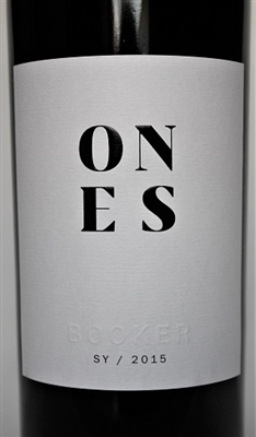 750ml bottle of ONES Syrah by Booker Vineyards in Paso Robles California