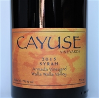 750ml bottle of 2015 Cayuse Armada Vineyard Syrah from the Walla Walla Valley of Washington State