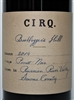 750ml bottle of 2014 CIRQ Pinot Noir from the Bootlegger's Hill Vineyard in the Russian River Valley of Sonoma County California