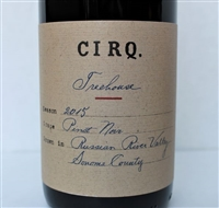 750ml bottle of 2015 CIRQ Pinot Noir from the Treehouse Vineyard in the Russian River Valley of Sonoma County California