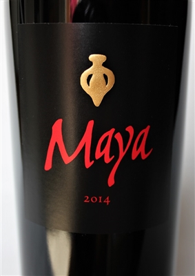 750ml bottle of 2014 Dalla Valle Maya from the Oakville AVA of Napa Valley California