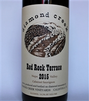 750ml bottle of 2015 Diamond Creek Vineyards Red Rock Terrace Cabernet Sauvignon from the Diamond Mountain AVA of Napa Valley California