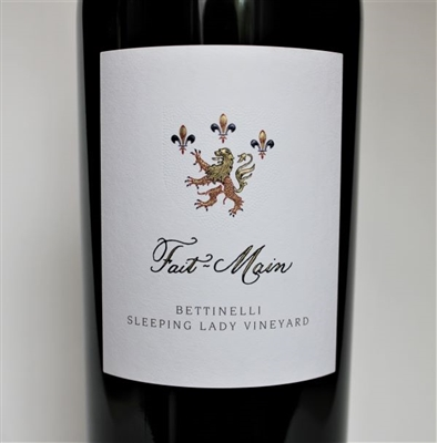 750ml bottle of 2016 Fait-Main Bettinelli Sleeping Lady Cabernet Sauvignon red wine from Yountville Napa Valley California