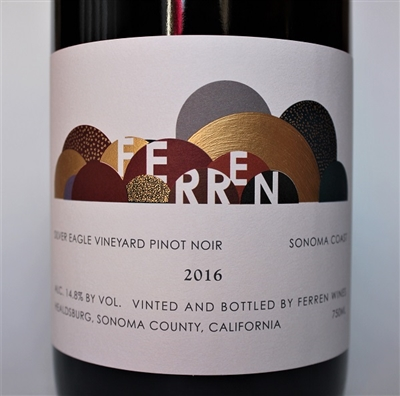750ml bottle of 2016 Ferren Wines Silver Eagle Vineyard Pinot Noir from the true Sonoma Coast of California