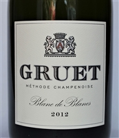 750ml bottle of 2012 Gruet Blanc de Blancs sparkling wine from New Mexico USA