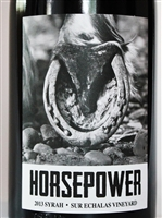750ml bottle of 2013 Horsepower Syrah from the Sur Echalas Vineyard in Walla Walla Valley of Washington State